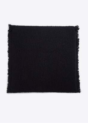 Vince Fringed Ribbed Wool And Cashmere Pillow