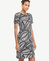 Ann Taylor Cheetah Leaf Shift Dress