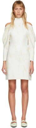 Proenza Schouler Off-White Jacquard Knit Short Dress