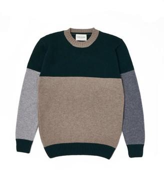 Country of Origin - Tri Half Crew Sweater Tartan Mushroom - S