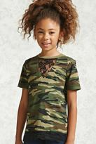 Forever 21 FOREVER 21+ Girls Camo Lace Tee (Kids)