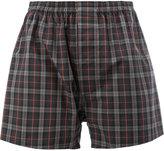 Maison Margiela boxer-style check casual shorts - women - Cotton - 38