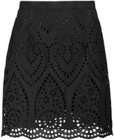 Zimmermann Epoque broderie anglaise cotton mini skirt