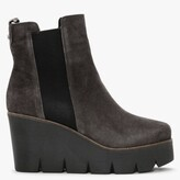 Thumbnail for your product : ALPE Alpaca Grey Suede Wedge Ankle Boots