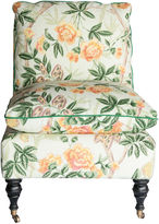 One Kings Lane Vintage Chinoiserie Floral Slipper Chair