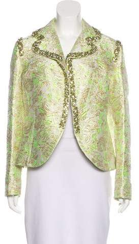 Giambattista Valli Couture Embellished Brocade Jacket