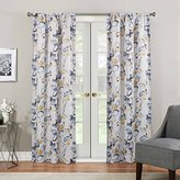 Eclipse Curtains Eclipse 16002037084YEL Paige Thermaweave Printed Panel, Yellow, 40x84