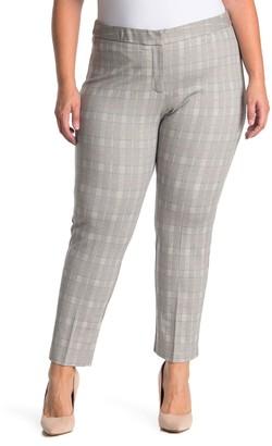 Amanda & Chelsea Plaid Ponte Knit Pants (Plus Size)