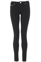Quiz Black & Silver Zip Embellished Jegging