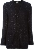 Saint Laurent sequin embellished cardigan - women - Silk/Polyester/Mohair/Wool - XS
