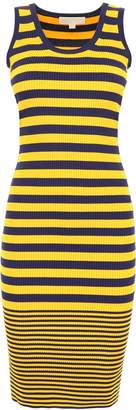 MICHAEL Michael Kors Striped Fitted Dress