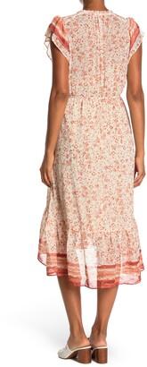 Love Stitch Flutter Sleeve Midi Dress