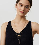 LOFT Multicolored Layered Stone Pendant Necklace