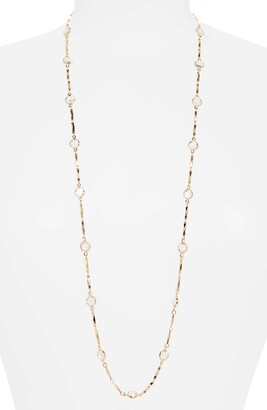 Halogen Long Bezel Station Necklace