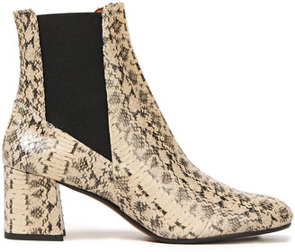 ATP ATELIER Altea 65 Snake-effect Leather Ankle Boots