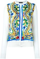Dolce & Gabbana Majolica print panel cardigan
