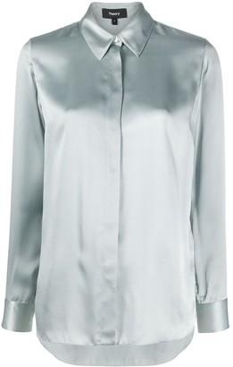 Theory Regular-Fit Silk Shirt