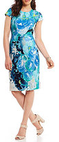 Vince Camuto Watercolor Floral Sheath Dress