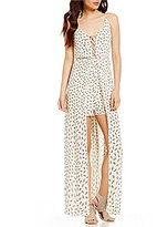 Soprano Printed Lace-Up Maxi Romper