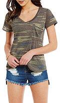 GB V-Neck Short-Sleeve Pocket Camo Tee