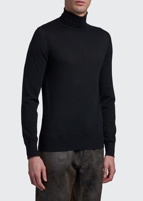 Dolce & Gabbana Men's DNA Cashmere Turtleneck Sweater