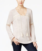 Style&Co. Style & Co. Lace-Trim Peasant Top, Only at Macy's