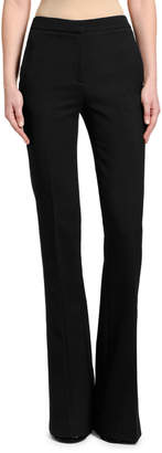Alexander McQueen Tuxedo Flare-Leg Jeans