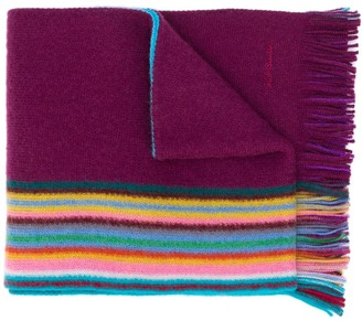 Paul Smith Striped Knit Scarf