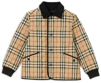 Burberry Kids Vintage Check Diamond Quilted Jacket (3-12 Years)