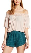 New Look Women's Crochet Edge Bardot Tops
