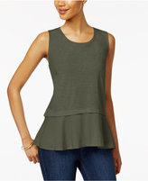 Style&Co. Style & Co Cotton Peplum-Hem Top, Created for Macy's