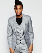 French Connection Wedding Suit Jacket In Slim Peak Check