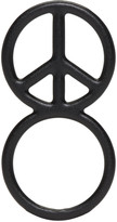 Haal Black Peace Sign Ring
