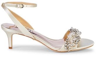 Badgley Mischka Fiona Embellished Sandals