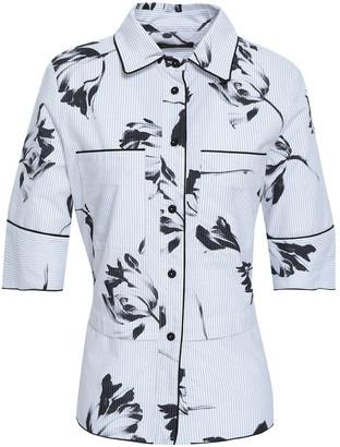 Piazza Sempione Printed Cotton-blend Oxford Shirt