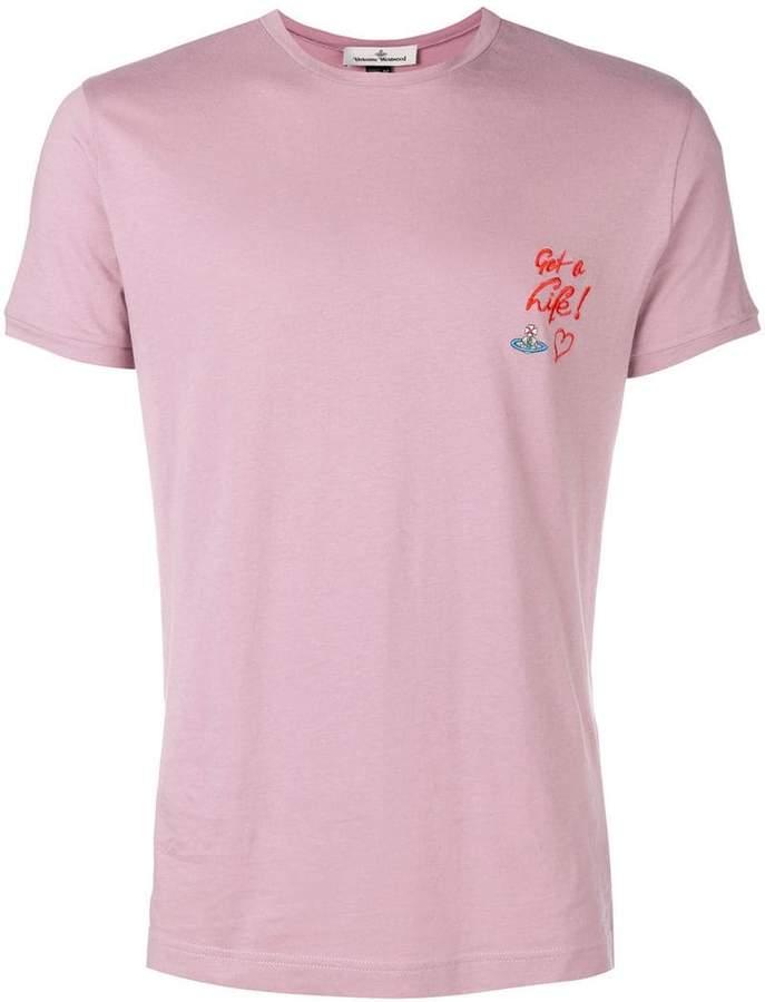 Vivienne Westwood embroidered slogan T-shirt