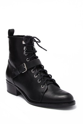 Via Spiga Cyra Leather Lace-Up Boot