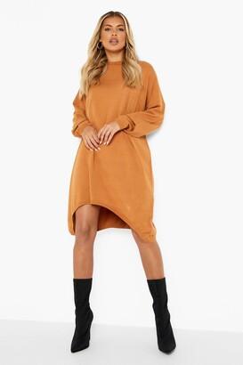 boohoo Oversized Boyfriend Knitted Dress