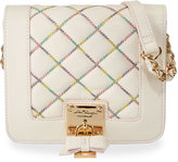Betsey Johnson Cotton Candy Quilted Crossbody Bag, Cream