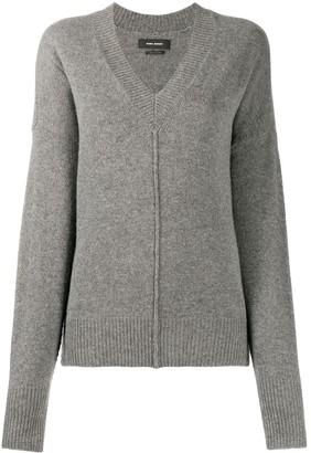 Isabel Marant exposed seam V-neck jumper