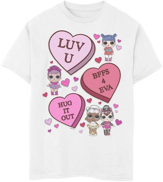 L.O.L. Surprise! Boys 8-20 Valentine's Day Candy Hearts Graphic Tee
