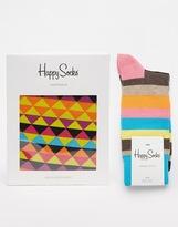 Happy Socks Happy Sock Trunk And Socks Set - Blue