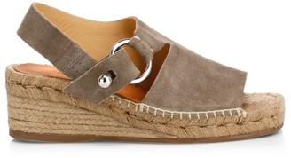 Rag & Bone Arc Platform Espadrille Suede Sandals