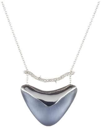 Alexis Bittar Crystal Bar Shield Pendant Necklace