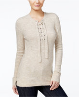 Kensie Lace-Up High-Low Sweater, A Macy's Exclusive Style