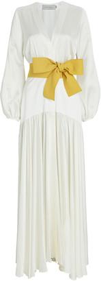 Silvia Tcherassi Felicity Tie-Waist Maxi Dress