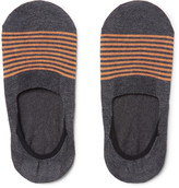Pantherella Striped Cotton-Blend No-Show Socks