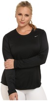 Nike Miler Long-Sleeve Running Top (Size 1X-3X)