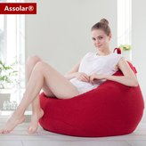 Assolar BB-9080 Portable Lightweight Cozy Sofa,Classic Bean Bag Chair for adults/kids