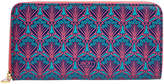 Liberty of London Designs Iphis Large Zip Wallet - Navy